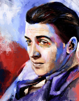 Royalty-Free and Rights-Managed Images - James Stewart portrait by Stars on Art