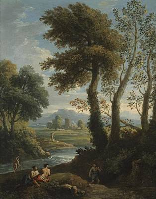 Ethereal - Jan Frans van Bloemen, called Orizzonte Flemish, worked in Italy, 1662 - 1749 Idyllic Landscape by Artistic Rifki