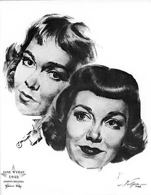 Drawings Royalty Free Images - Jane Wyman by Volpe Royalty-Free Image by Stars on Art