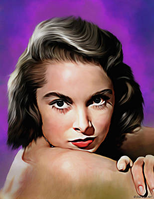 Royalty-Free and Rights-Managed Images - Janet Leigh illustration by Stars on Art