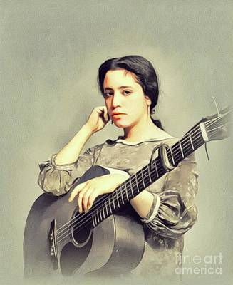 Music Paintings - Janis Ian, Music Legend by John Springfield