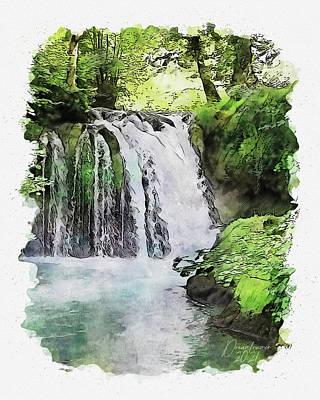 Painting - Janjske Otoke by Dreamframer Art