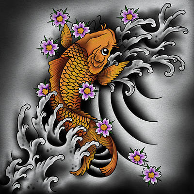 Halloween Movies - Japanese Koi Fish by Samuel Whitton