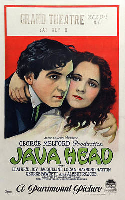 Mixed Media Royalty Free Images - Java Head movie poster 1923 Royalty-Free Image by Stars on Art