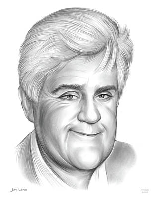 Drawings Rights Managed Images - Jay Leno Royalty-Free Image by Greg Joens