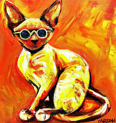 Painting - Jazz Cat by Susan Carson
