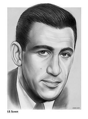 Drawings Rights Managed Images - JD Salinger Royalty-Free Image by Greg Joens