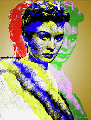 Royalty-Free and Rights-Managed Images - Jean Simmons by Stars on Art