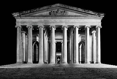 Photograph - Jefferson Memorial at Night by Sebastian Musial