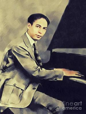 Painting Royalty Free Images - Jelly Roll Morton, Music Legend Royalty-Free Image by John Springfield