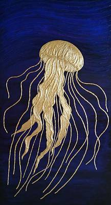 Animals Paintings - Jellyfish by Vladimir Frolov
