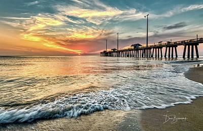 Dan Beauvais Photos - Jennettes Pier #0998 by Dan Beauvais
