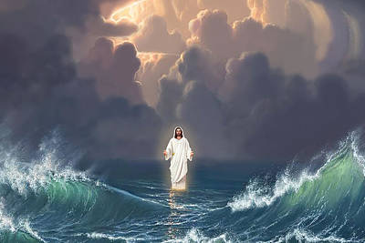 Royalty-Free and Rights-Managed Images - Jesus Sea Canvas Poster by Julien