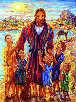 Painting - Jesus With Children by Arthur Robins