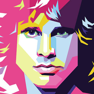 Royalty-Free and Rights-Managed Images - Jim Morison Wpap Pop Art by Ahmad Nusyirwan