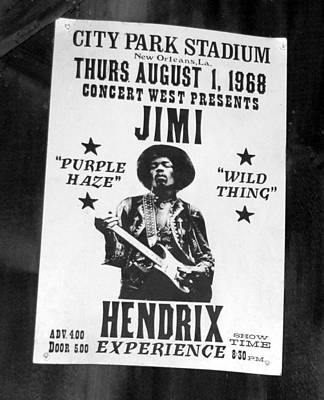 Gaugin Rights Managed Images - Jimi Hendrix 1968 poster Royalty-Free Image by David Lee Thompson