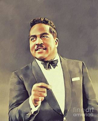 Painting Royalty Free Images - Jimmy Witherspoon, Music Legend Royalty-Free Image by John Springfield