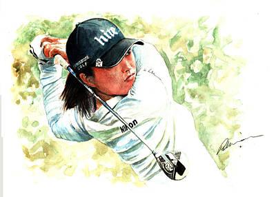 Painting - Jin Young Ko LPGA Tour by Mark Robinson