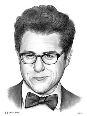 Drawings Royalty Free Images - JJ Abrams Pencil Royalty-Free Image by Greg Joens