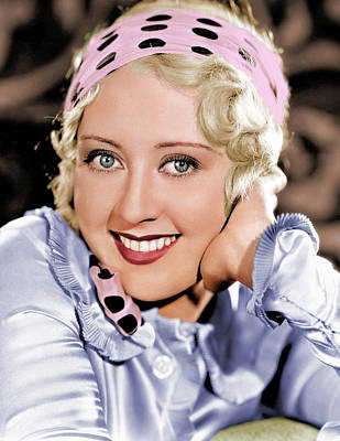 Mans Best Friend - Joan Blondell colorized by Stars on Art
