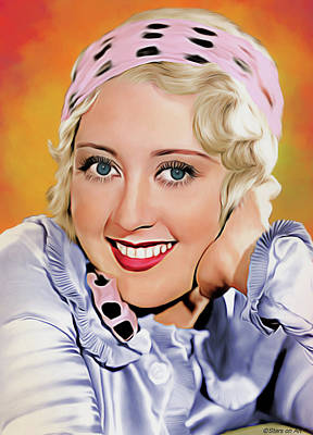 Royalty-Free and Rights-Managed Images - Joan Blondell illustration by Stars on Art