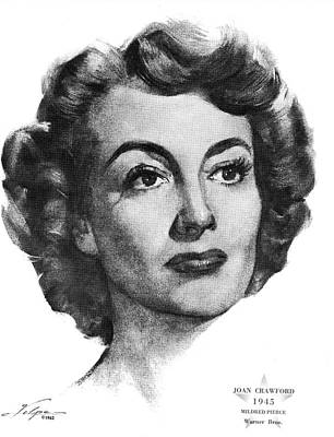 Drawings Royalty Free Images - Joan Crawford by Volpe Royalty-Free Image by Stars on Art