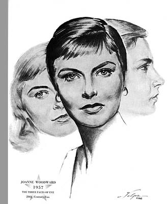 Drawings Royalty Free Images - Joanne Woodward by Volpe Royalty-Free Image by Stars on Art