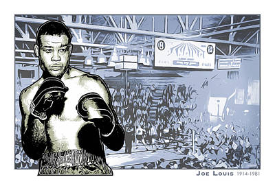 Drawings Rights Managed Images - Joe Louis Royalty-Free Image by Greg Joens