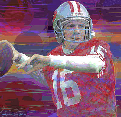 Royalty-Free and Rights-Managed Images - Joe Montana Super Bowl by David Lloyd Glover