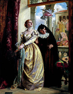 Roaring Red - John Callcott Horsley RA 1817 1903 Juliet and her nurse by Artistic Rifki