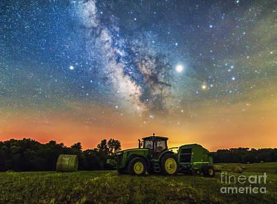 Photograph - John Deere Milky Way by Willard Sharp