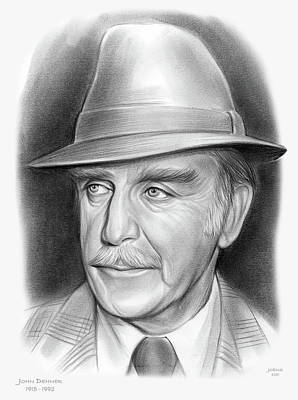 Drawings Royalty Free Images - John Dehner - pencil Royalty-Free Image by Greg Joens