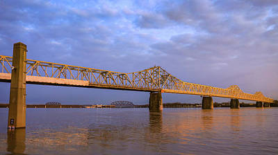 Science Tees Rights Managed Images - John F Kennedy Memorial Bridge Sunrise Royalty-Free Image by Dan Sproul