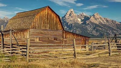 Old Masters - John Moulton Barn and Grand Teton by Stephen Stookey