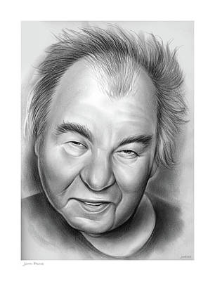 Drawings Rights Managed Images - John Prine Royalty-Free Image by Greg Joens