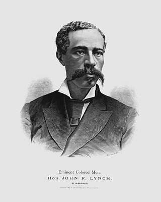 Drawings Royalty Free Images - John R. Lynch Engraving - Eminent Colored Men - 1884 Royalty-Free Image by War Is Hell Store