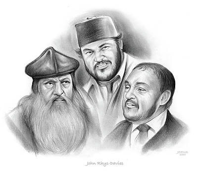 Drawings Royalty Free Images - John Rhys-Davies - Pencil Royalty-Free Image by Greg Joens