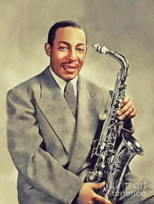 Painting Royalty Free Images - Johnny Hodges, Music Legend Royalty-Free Image by John Springfield