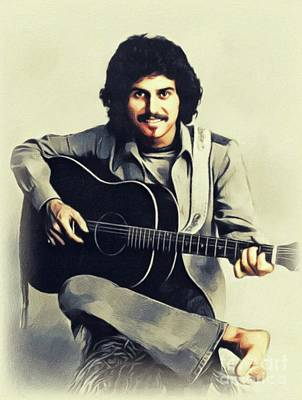 Music Paintings - Johnny Rivers, Music Legend by John Springfield