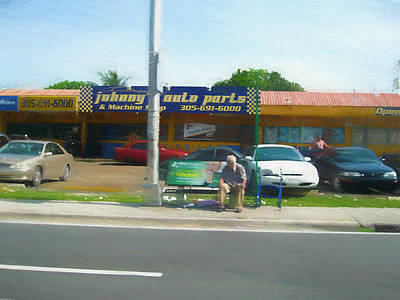 Painting - Johnny's Auto Parts 2020 - 7344f by Albert Vatveri Studio