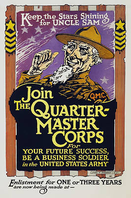 Angels And Cherubs - Join The Quartermaster Corps - Keep The Stars Shining For Uncle Sam - 1919 by War Is Hell Store
