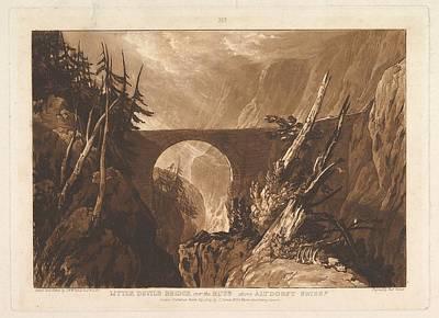 New Years - Joseph Mallord William Turner  British London 1775 1851 London Little Devils Bridge over the Russ ab by Arpina Shop
