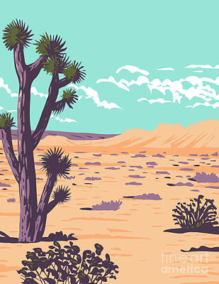Halloween Movies - Joshua Tree in Tule Springs Fossil Beds National Monument near Las Vegas Clark County Nevada WPA Poster Art by Aloysius Patrimonio