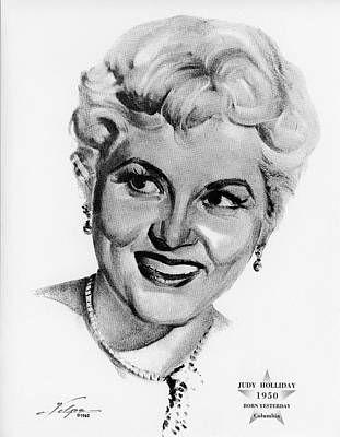 Drawings Royalty Free Images - Judy Holliday by Volpe Royalty-Free Image by Stars on Art