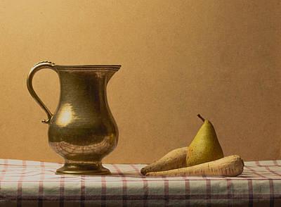 Photograph - Jug and Pear Still Life by Sean Patrick Durham