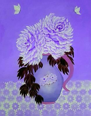 Claude Monet - Jug of pleasure in full purple  by Angela Whitehouse