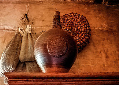 Fruits And Vegetables Still Life - Jug on a Shelf by David Beard