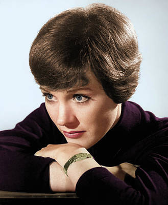 Peacock Feathers - Julie Andrews colorized by Stars on Art