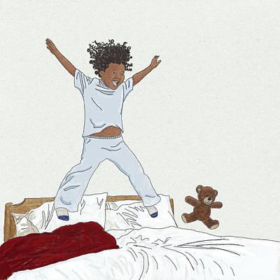 Drawing - No School Today by Kim W Nolan