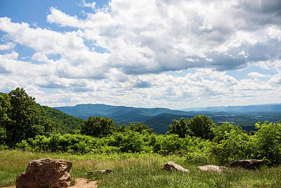 Landscapes Royalty-Free and Rights-Managed Images - June Clouds Over Dickey Ridge by David Beard